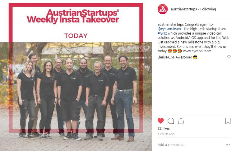 insta take over austrian startups