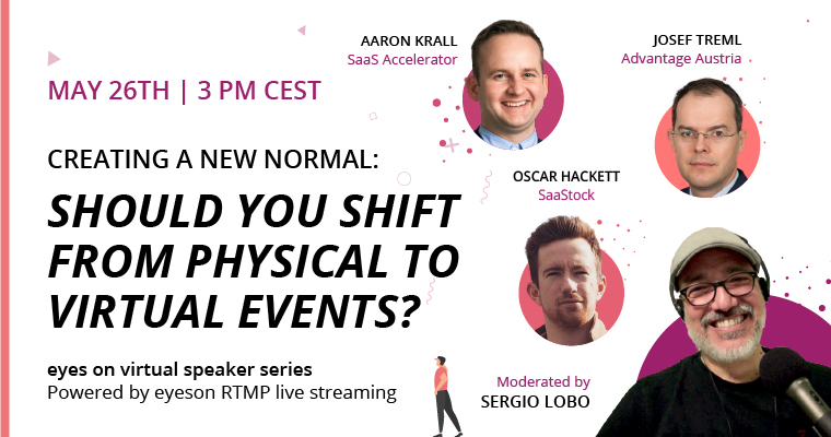 shifting from physical to virtual events