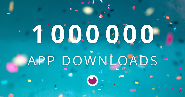 one million app downloads