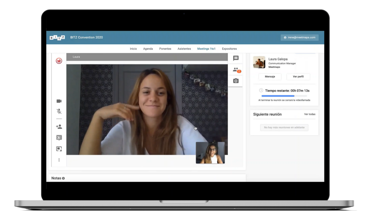 Video call management system for meetmaps events