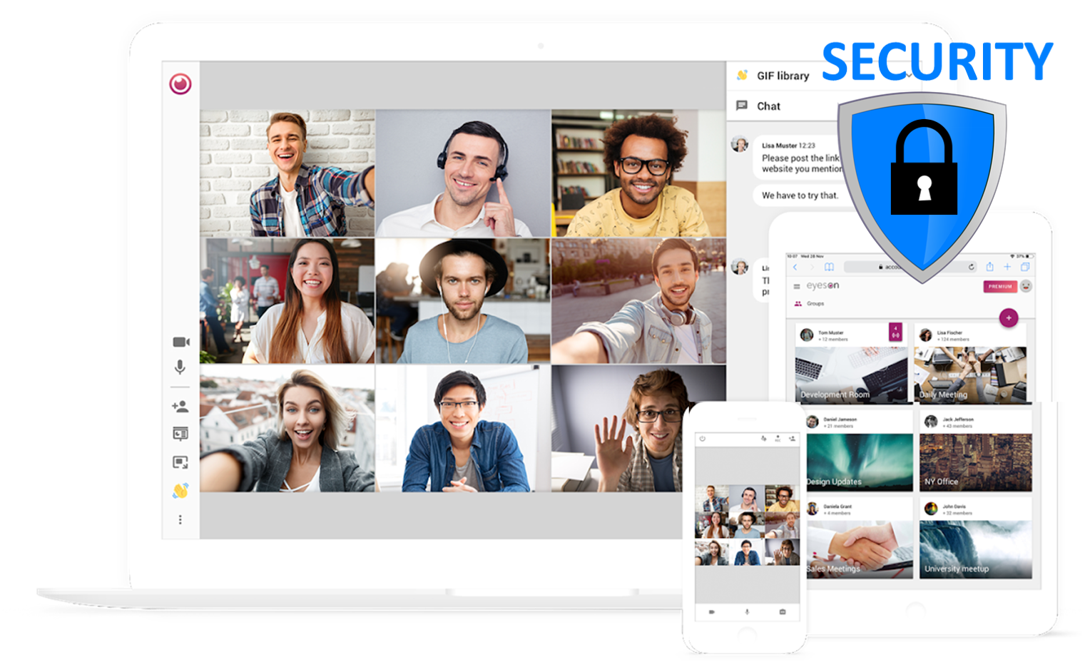 Security for Video Conferencing via the eyeson API